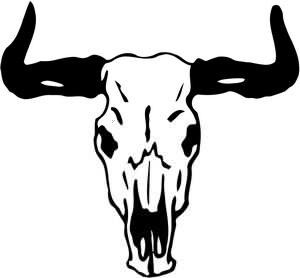 Cow With Horns Clipart.