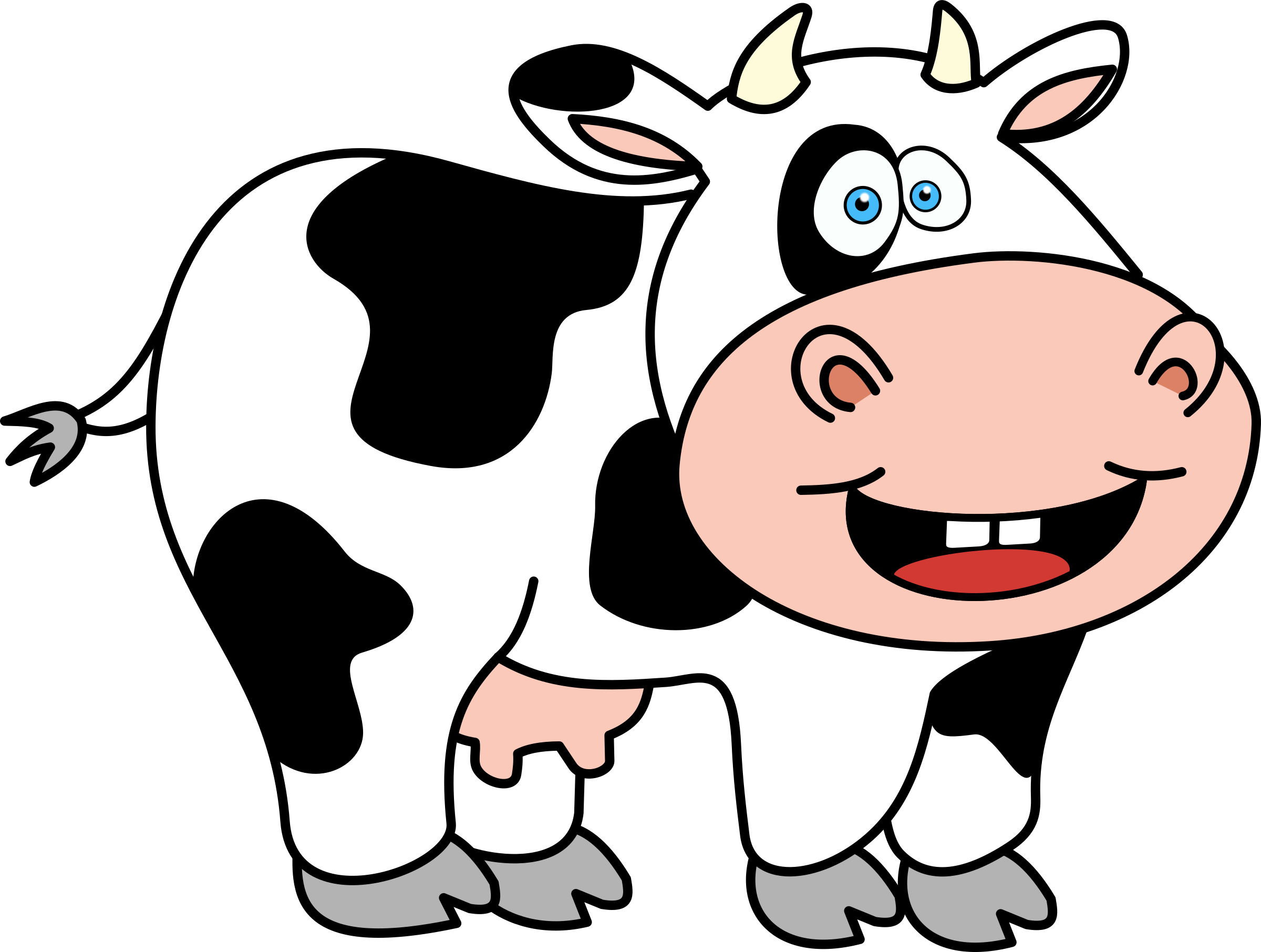 HD Cow Clip Art Image » Free Vector Art, Images, Graphics.