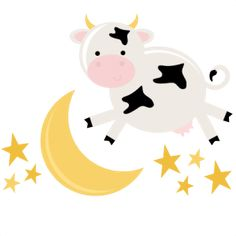Cow Jumped Over The Moon Clipart (56+).