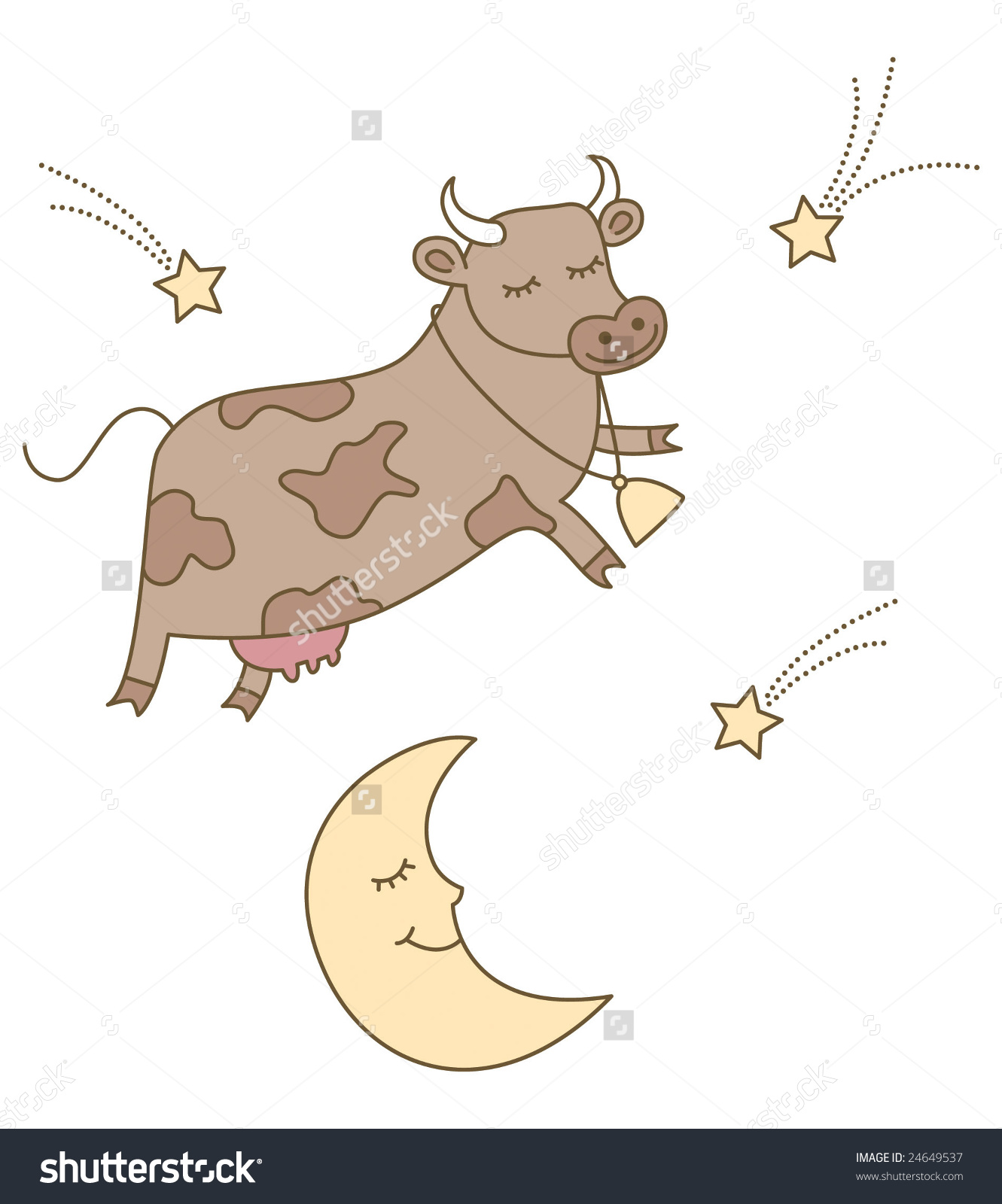 Cow Jumped Over Moon Illustration Perfect Stock Vector 24649537.