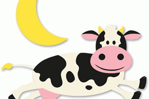 Cow Jumped Over The Moon Clipart