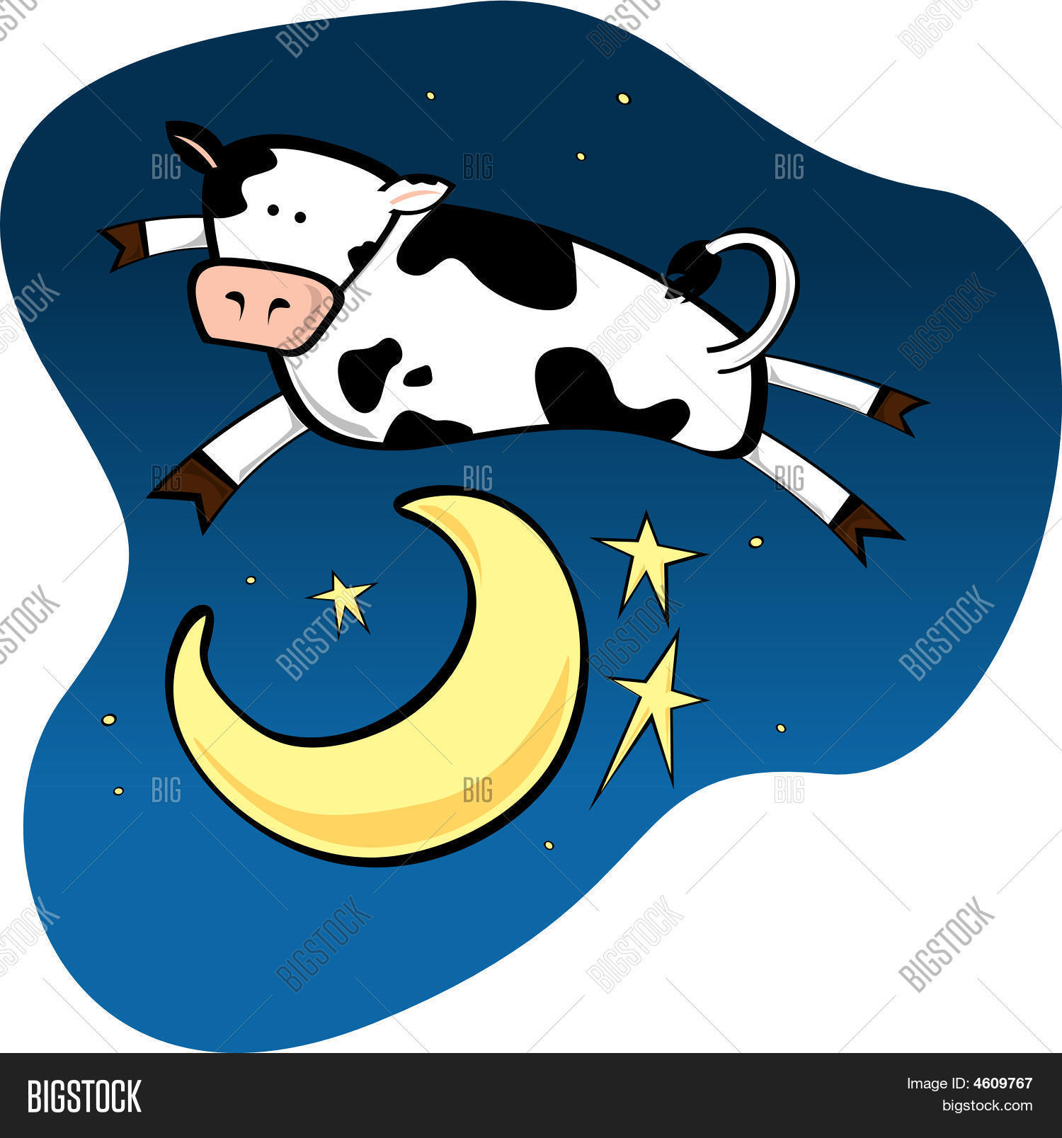 Cow Jumping Over Moon.eps Stock Vector & Stock Photos.