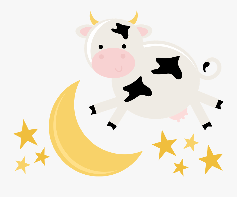 Cow Jumped Over The Moon Png , Free Transparent Clipart.