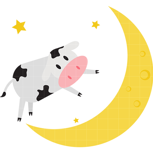 Cow Jumping Over Moon Clipart.