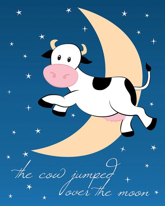 The Cow Jumped Over the Moon Printable 8x10 by HotDogP.