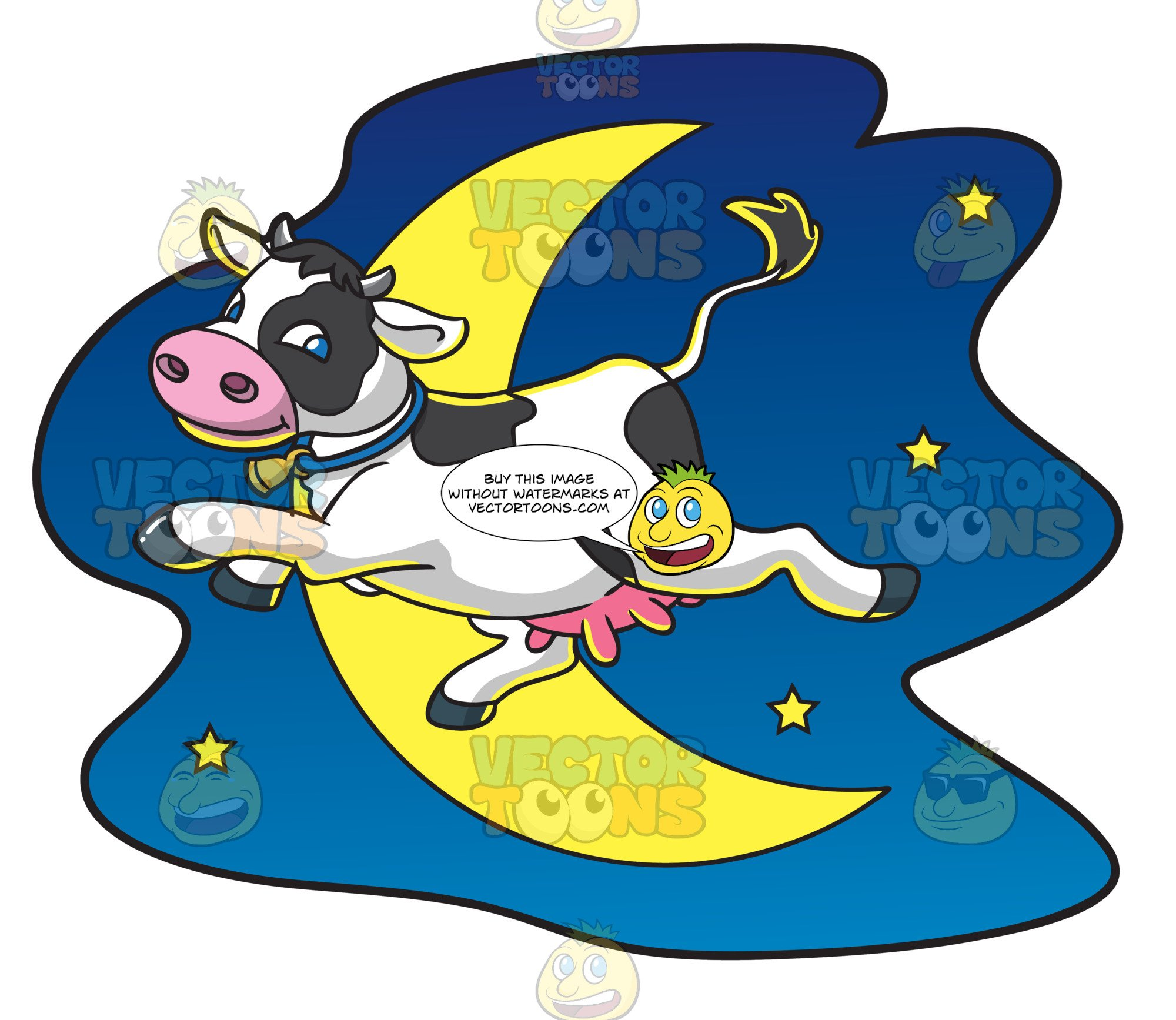 A Cow Jumps Over The Moon.