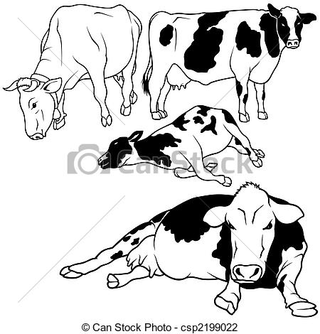 Cow Lying Down Clipart.