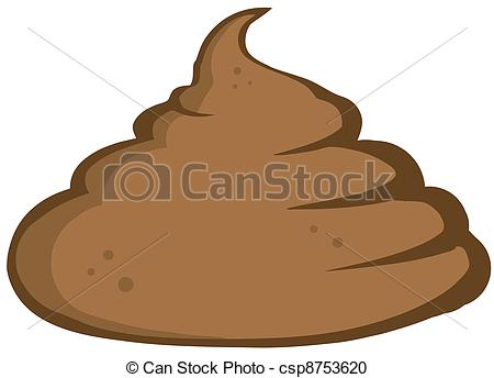 Vector Clipart of Stinky Pile Of Poop Cartoon Character csp8753620.