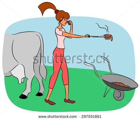 Cow pat clipart.