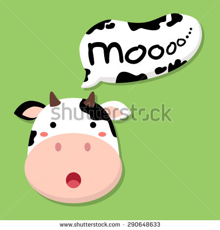 Cow Mooing Stock Images, Royalty.