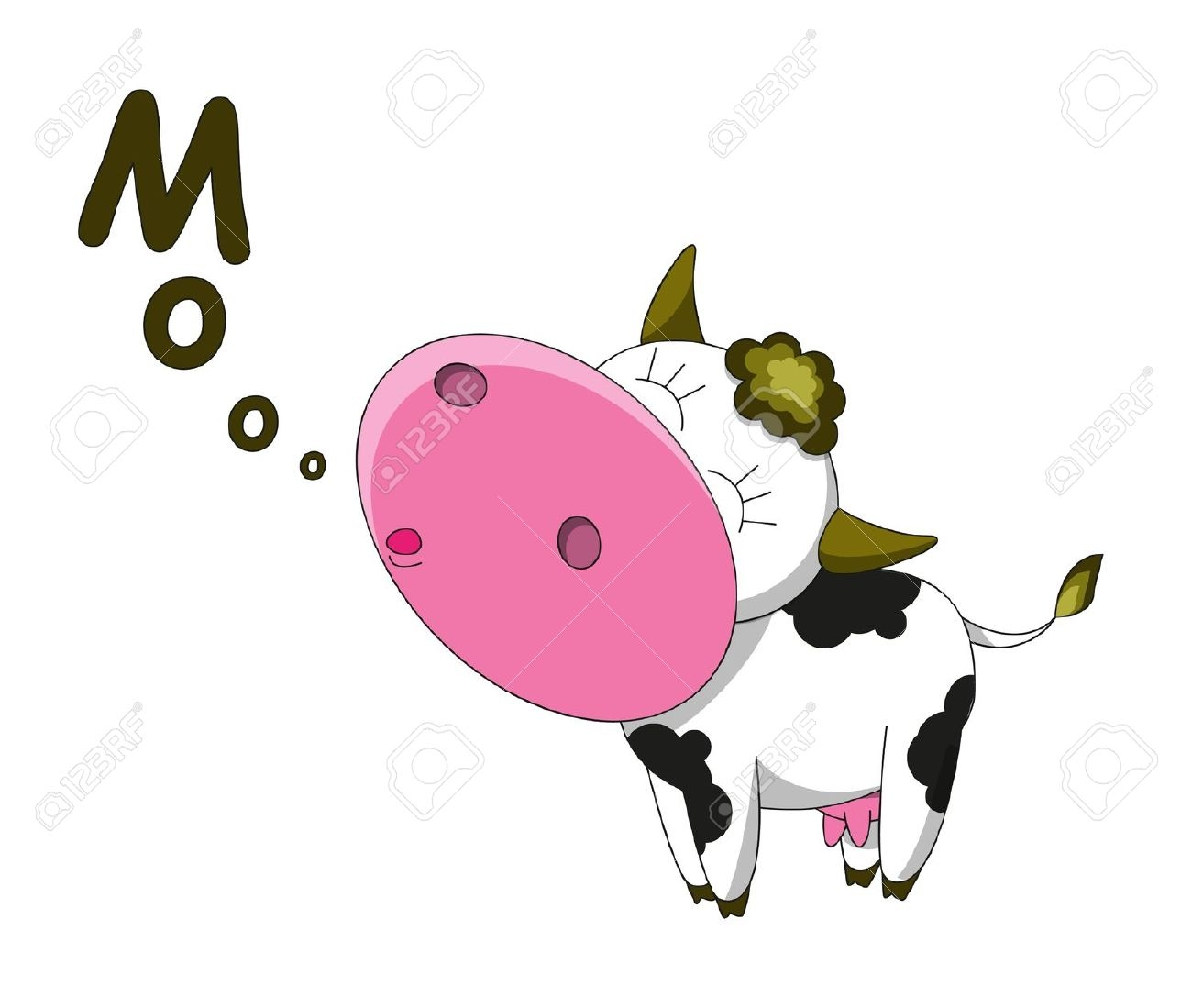 Mooing Cow Clipart.