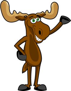Moose clipart animation.