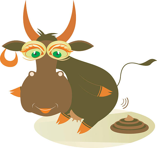 Silhouette Of A Cow Dung Clip Art, Vector Images & Illustrations.