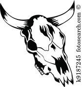 Cow skull Clip Art Illustrations. 480 cow skull clipart EPS vector.