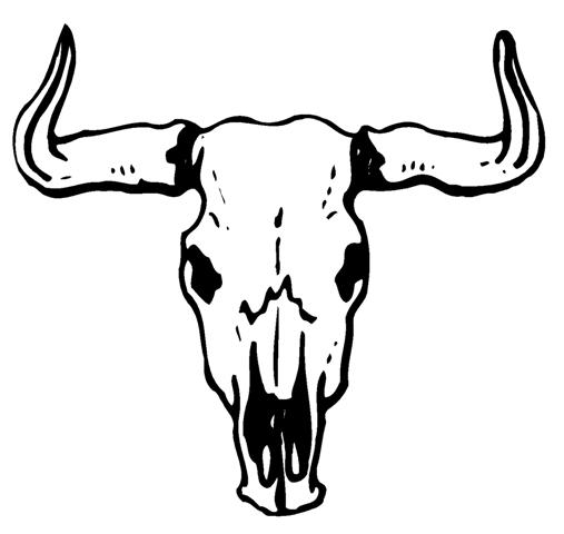 Free cow skull clip art.