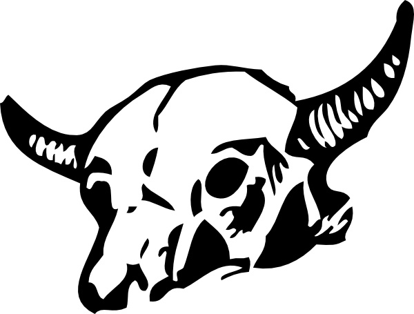 Cow Skull clip art Free vector in Open office drawing svg.