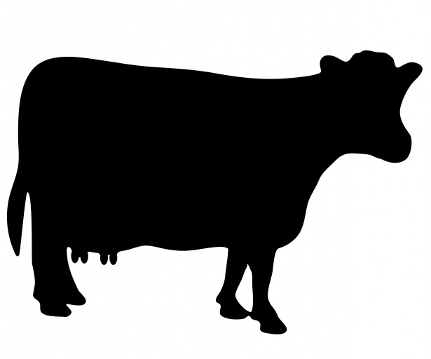 Free Cow Tag Silhouette, Download Free Clip Art, Free Clip.