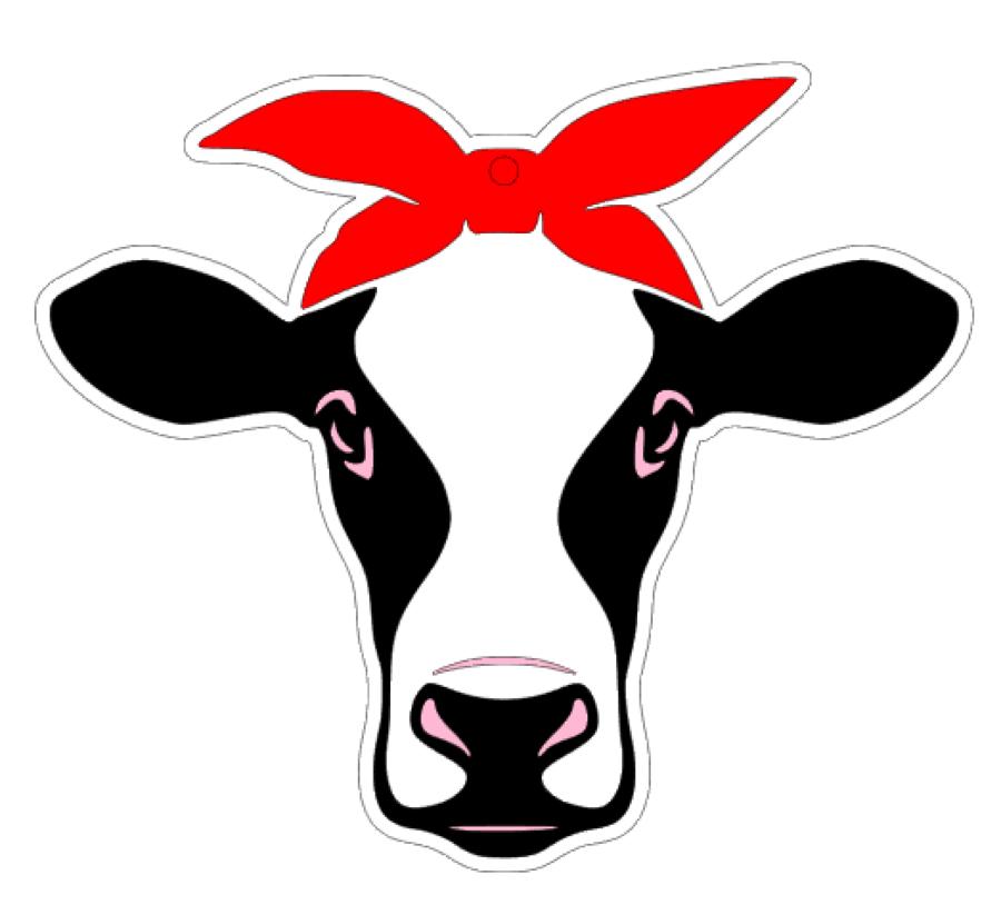 Cow Bandana Acrylic Blank.