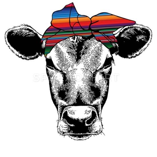 Cow Rainbow Bandana iPhone Case flexible.
