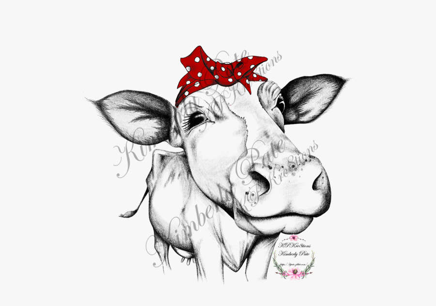 Heifer With Red Bandana Waterslide ~ Colored And Black.