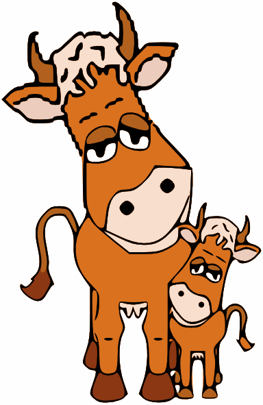 Cow With Calf Clipart Clipground
