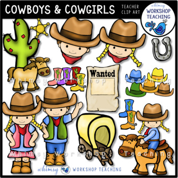 Cowboys and Cowgirl Clip Art.