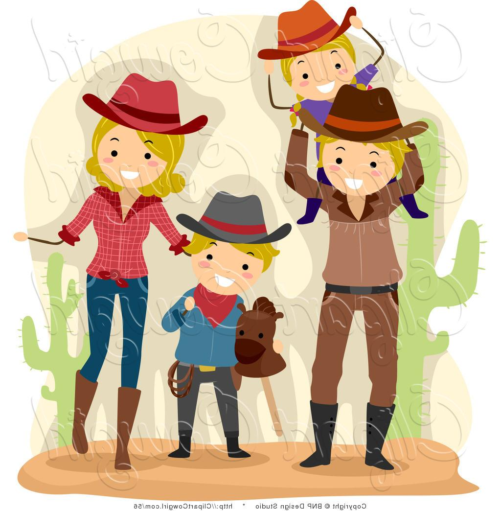 Top Cowboy And Cowgirl Clip Art Drawing » Free Vector Art, Images.