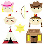 Cowboy and indian clipart.