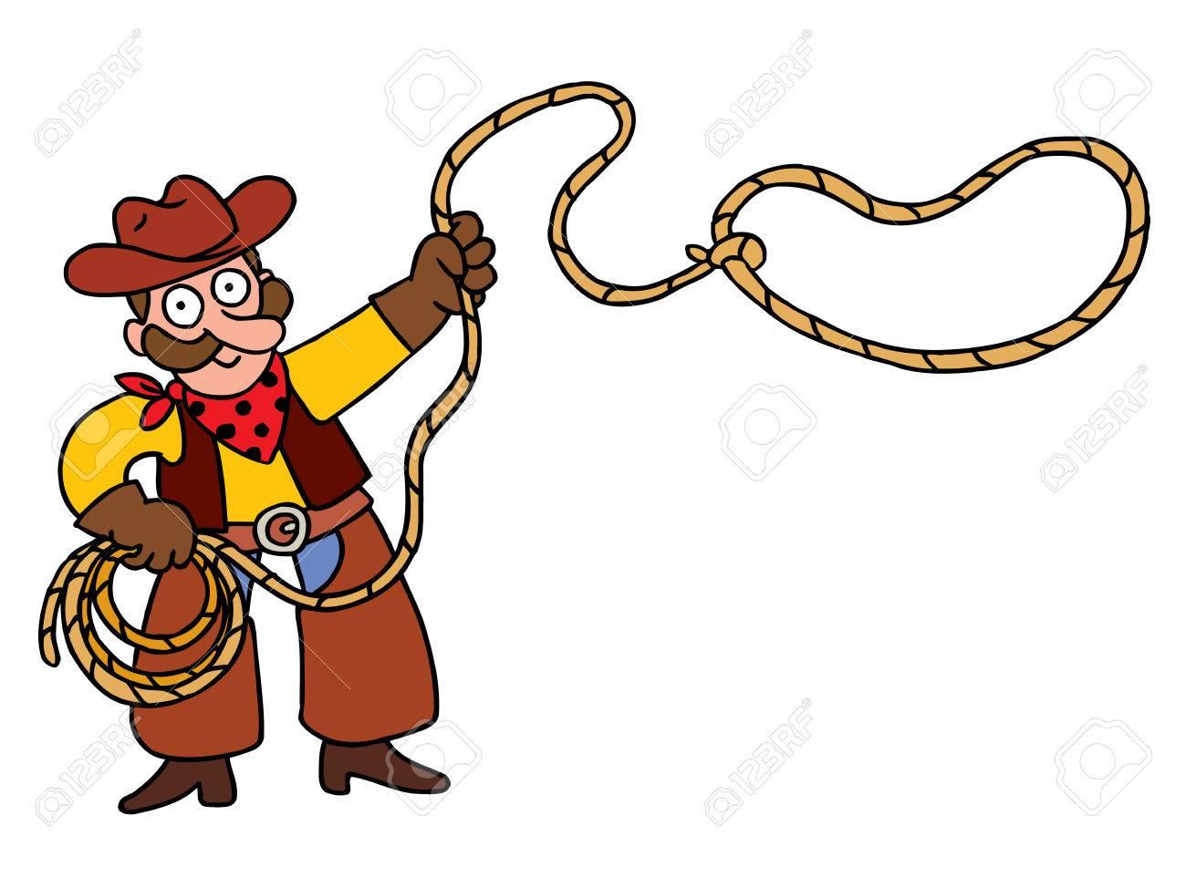 cowboy with lasso.