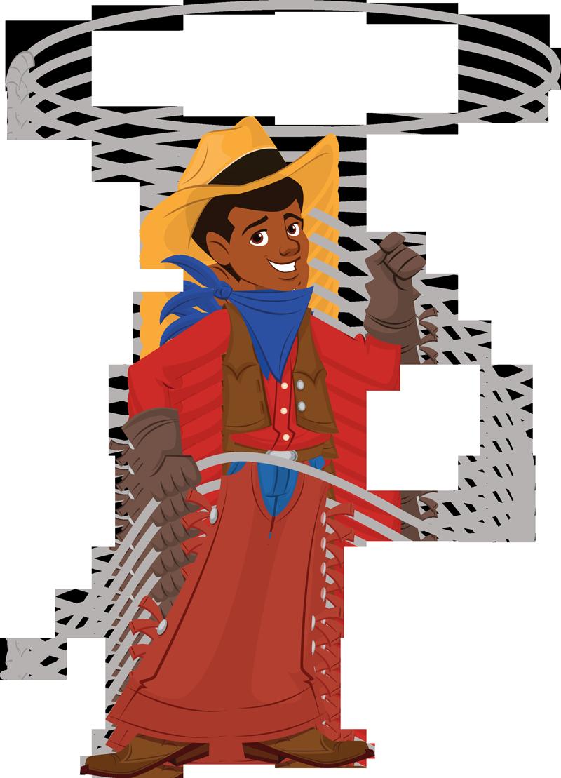 Cowboy Lasso Rope Clip Art N2 free image.
