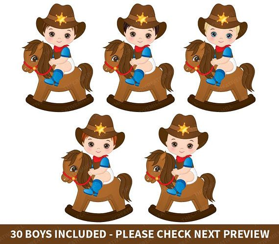 Cowboys Baby Clipart.