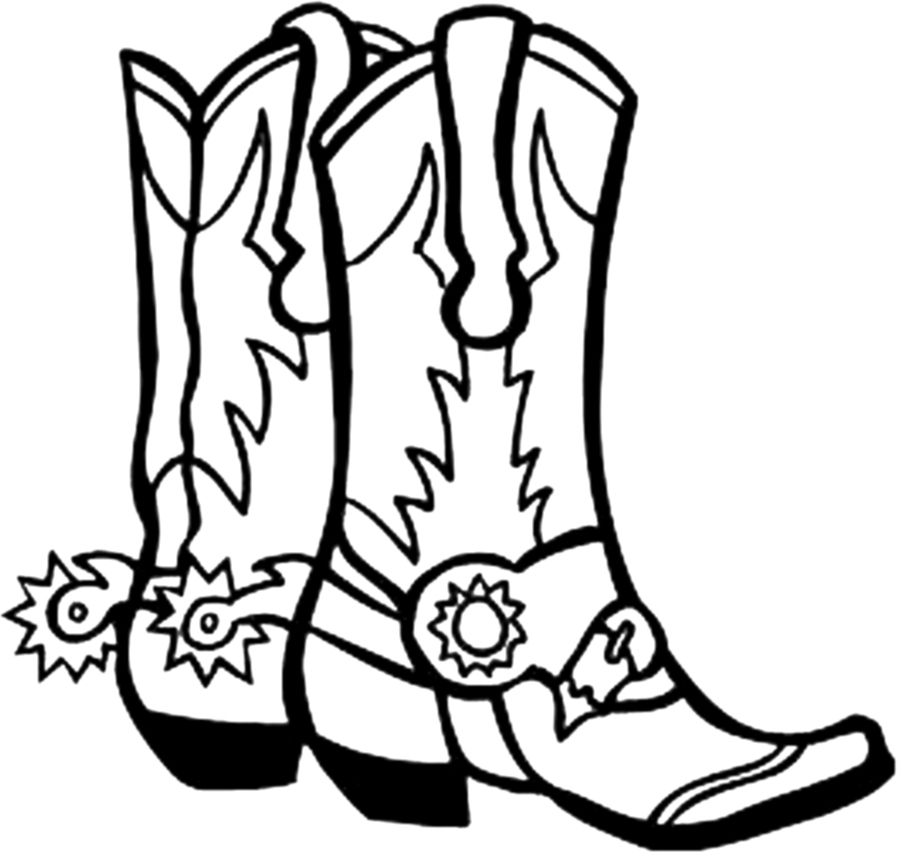 Cowboy Boot Clipart Black And White.