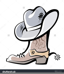 Boots And Cowboy Hat Clipart.