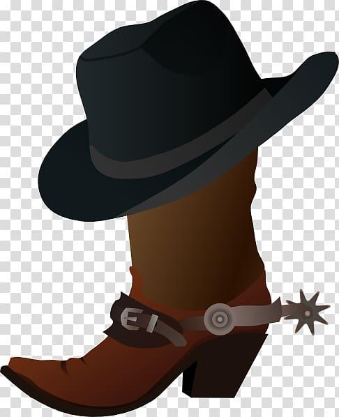 Hat n Boots Cowboy boot , Cartoon Cowboy transparent.