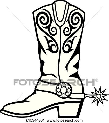 Cowboy boot Clipart.