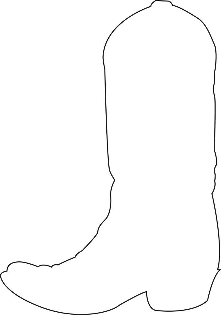 Cowboy boot outline clipart 1 » Clipart Station.
