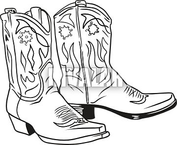 Free Cowboy Boot Outline Cowboy Boots Cowboy.
