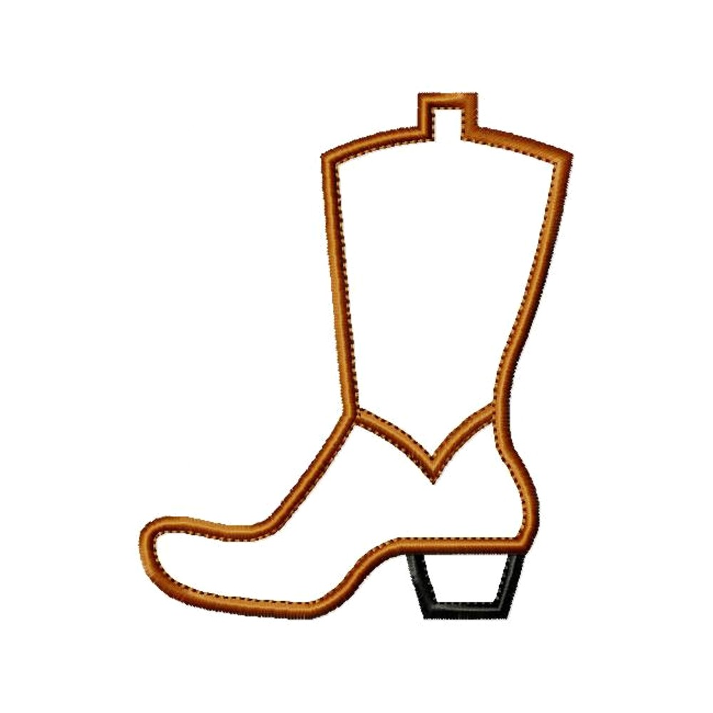 Cowboy boot outline clipart 3 » Clipart Station.