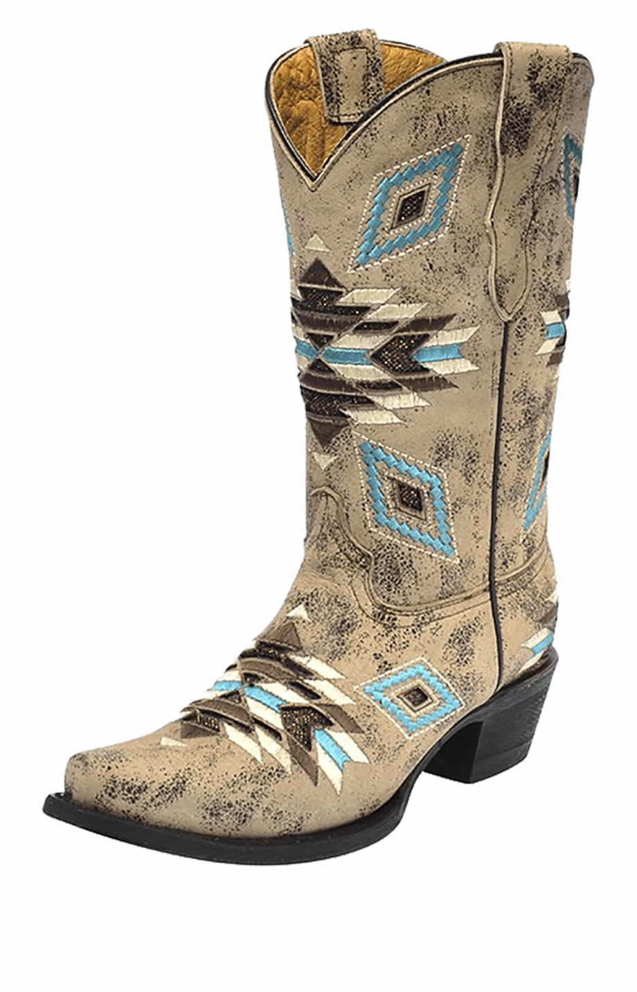Kid's Corral Aztec Pattern Boot.
