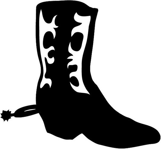 Free Cowboy Boot Silhouette Clip Art, Download Free Clip Art.