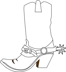 A cowboy christmas boot cowboy boots clip art and cowboys image 2.