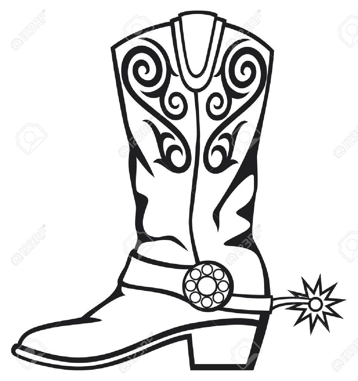Cowboy boots images clip art.