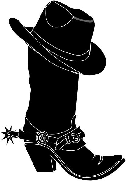 Cowboy Boots Clipart Black And White.