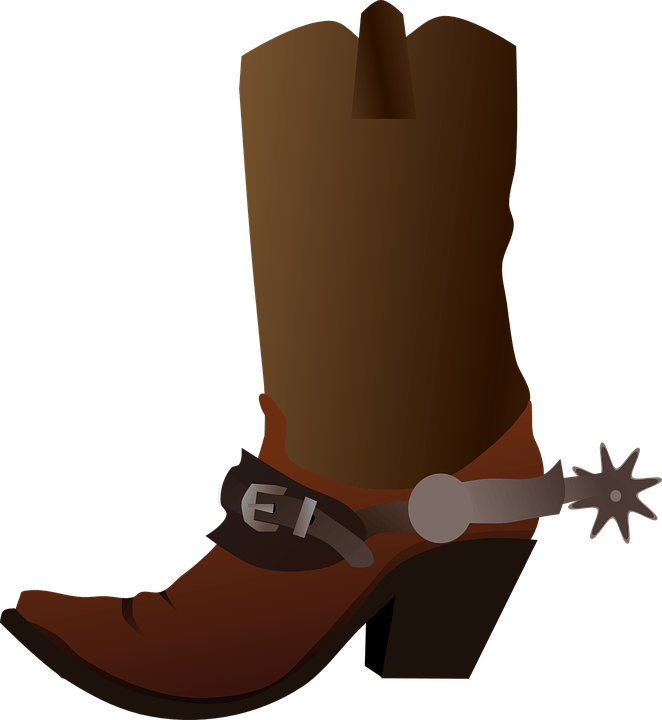Cowboy Boot Shoe transparent PNG.