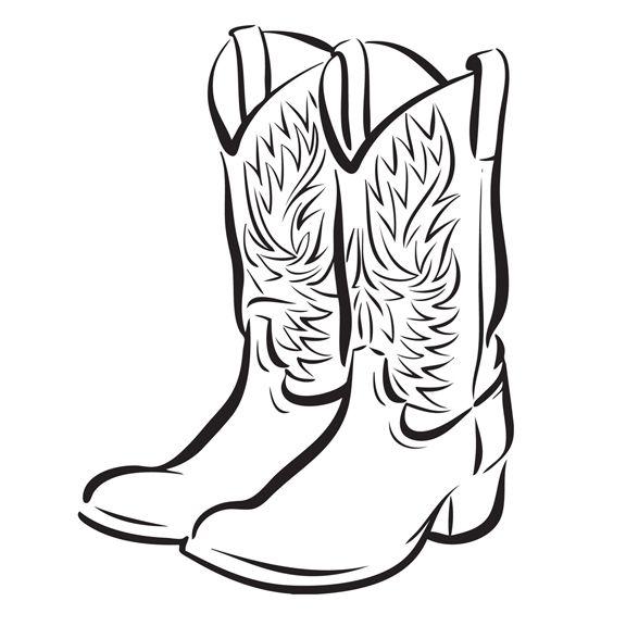 Cowboy Boot Clip Art Free.