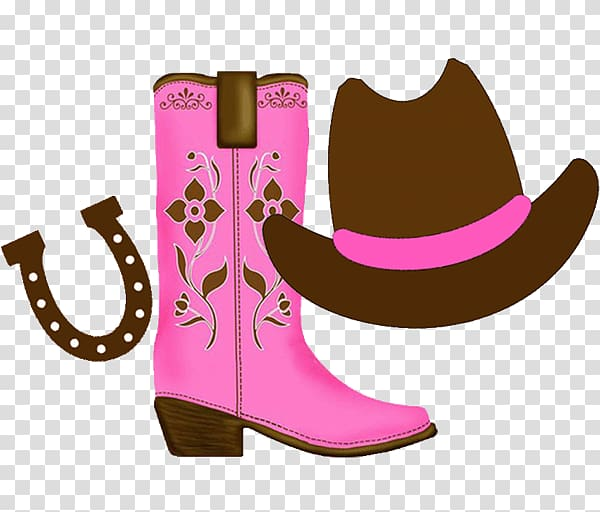 Cowboy boot Cowboy hat , cowgirl transparent background PNG.