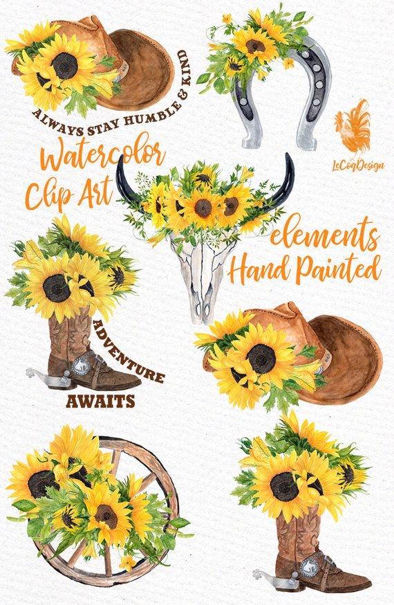 Sunflower Clipart: \