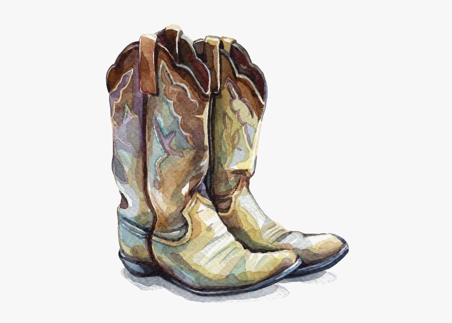 Clip Art Painted Cowboy Boots.