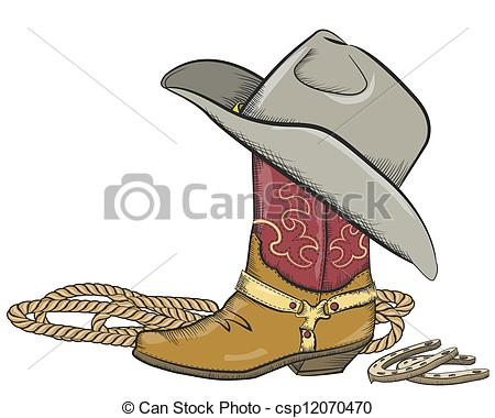 Cowboy boots and hat clipart 5 » Clipart Station.