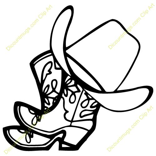 7362 Cowboy free clipart.
